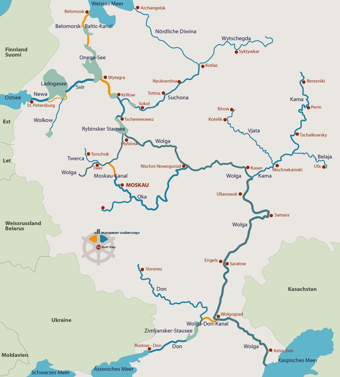 Der grösste Fluss im Europäischen Russland - Waterways